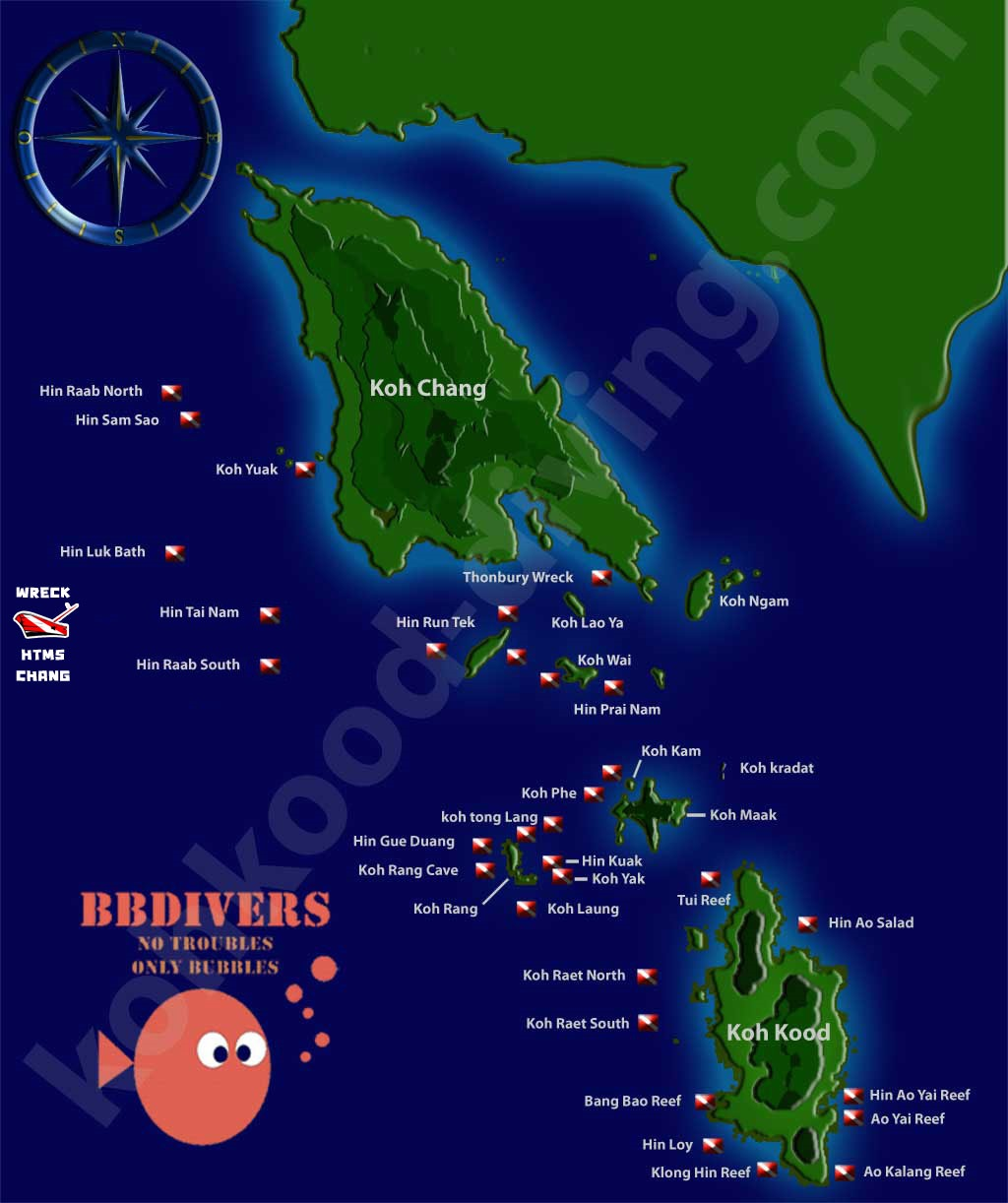 BB Divers Koh Chang - Dive sites